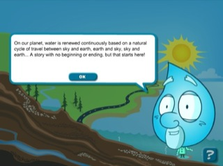 Printables Speech In Watercycl the water cycle history of hydroelectricity in quebec credits screen featuring a character form drop with cartoon speech bubble presenting introductory text there is